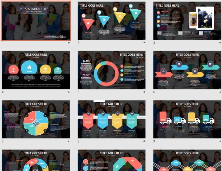 free teacher in a classroom ppt #104921 | sagefox free powerpoint, Technology In The Classroom Free Presentation Template, Presentation templates
