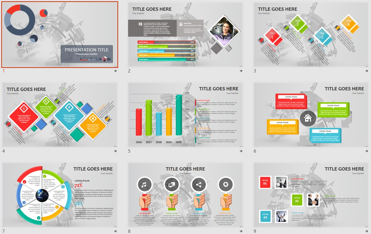 Free abstract powerpoint 106384 sagefox powerpoint templates by james sager toneelgroepblik Images