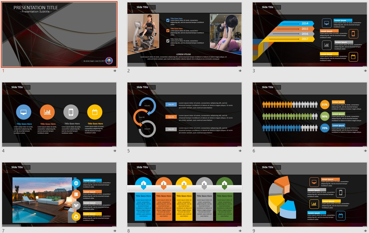 Free abstract red powerpoint 106502 sagefox free powerpoint by james sager toneelgroepblik Images