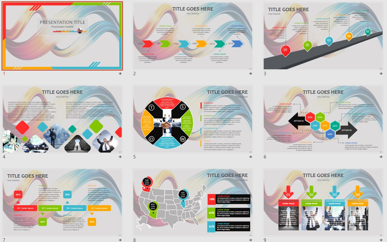 Free abstract wave powerpoint 107128 sagefox powerpoint templates by james sager toneelgroepblik Images