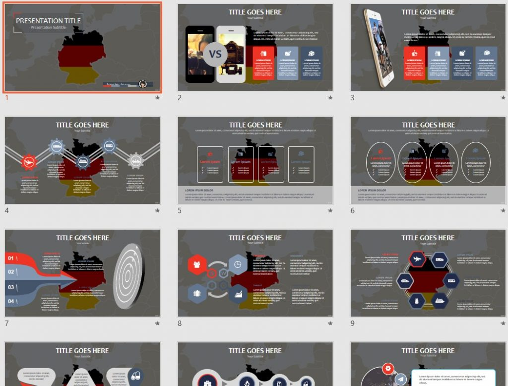 Free germany ppt 72161 sagefox powerpoint templates by james sager toneelgroepblik Images