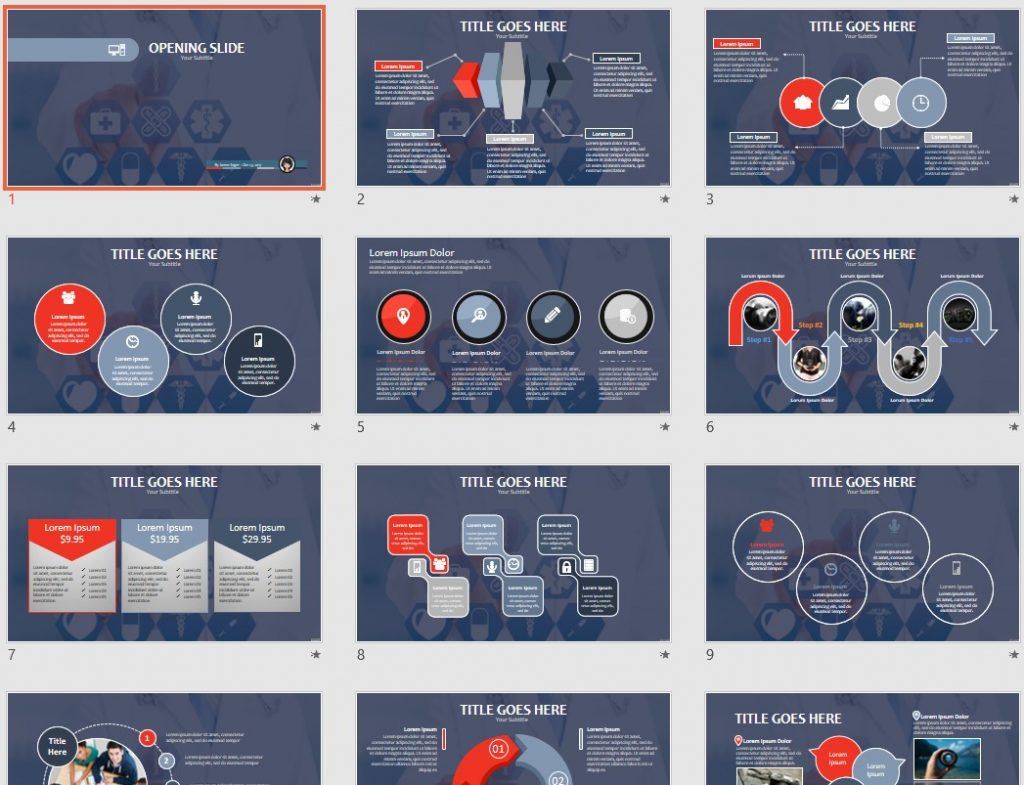 Free medical ppt 80454 sagefox powerpoint templates by james sager alramifo Image collections