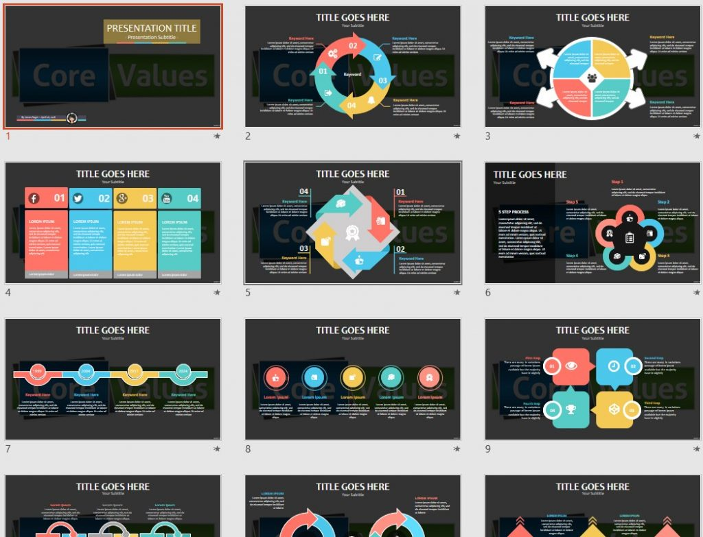 free core values powerpoint 93724 sagefox free powerpoint templates