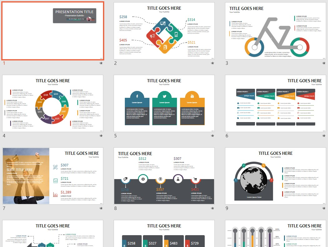free color set 26 powerpoint 118056 sagefox powerpoint